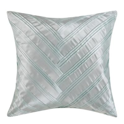 Vince Camuto Messina Signature V Square Throw Pillow in White