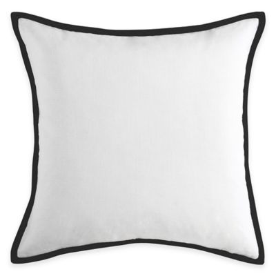Vince Camuto Messina Textured Square Throw Pillow in White/Navy