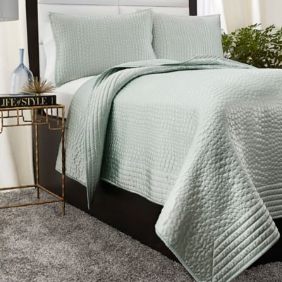 Mist Vince Camuto Messina Coverlet in Mist