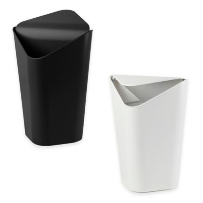 2-3/4 Gallon Corner Trash Can in White