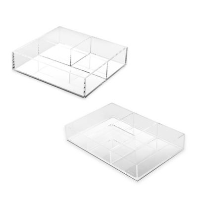 Mirrored 4-Section Vanity Tray