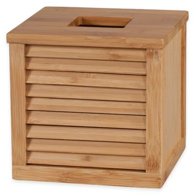 Ecostyles Louver Bamboo Boutique Tissue Box Cover