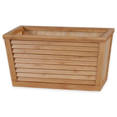 Ecostyles Louver Bamboo Medium Storage Bin