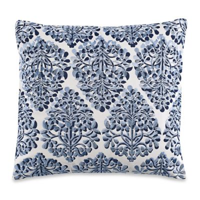 Anthology Ella Square Throw Pillow in Deep Blue