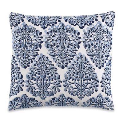 Deep Blue Throw Pillows : Buy Anthology Ella Square Throw Pillow in Deep Blue from Bed Bath & Beyond