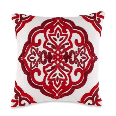 Anthology Ella Square Throw Pillow in Red