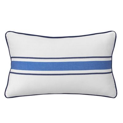 Southern Tide® Dock Street Woven Stripe Oblong Throw Pillow in White