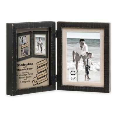Prinz Sweet Water 5-Inch x 7-Inch Shadowbox with Magnetic Board Hinged Frame