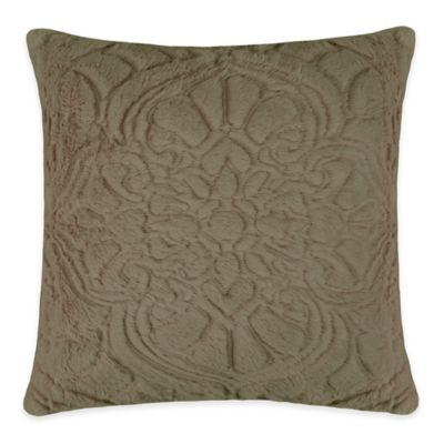 Vue Signature Charlotte Square Throw Pillow in Taupe