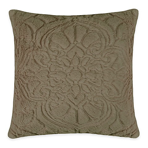 Vue Signature Charlotte Square Throw Pillow in Taupe - www.BedBathandBeyond.com
