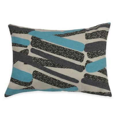 KAS ROOM Annelie Baton Oblong Throw Pillow in Aqua