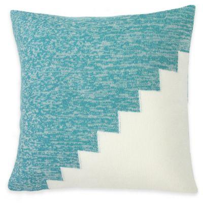 KAS ROOM Annelie Kurt Square Throw Pillow in Aqua