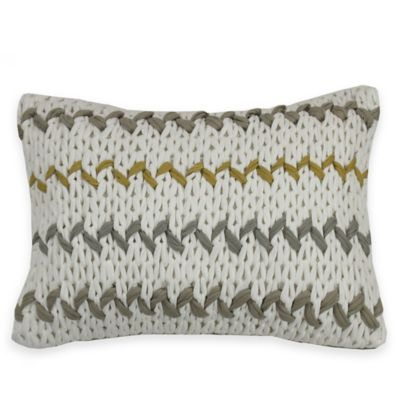 KAS ROOM Logan Oblong Throw Pillow in Grey