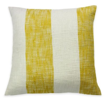 KAS ROOM Logan Square Throw Pillow in Yellow