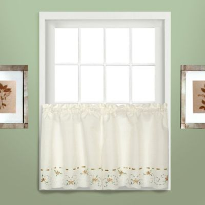 Rachael 24-Inch Window Curtain Tier Pair in Taupe