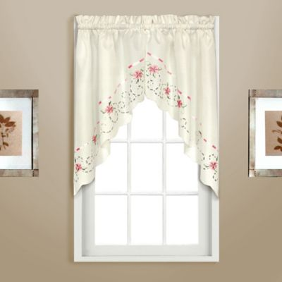 Rachael Window Curtain Swag Valance in White