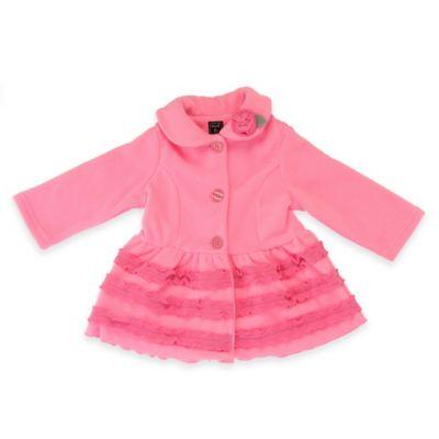 Mack & Co. Size 9M Fleece Ruffle Coat in Pink