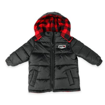 iXtreme Size 4T Shiny Quilted Puffer Jacket in Black