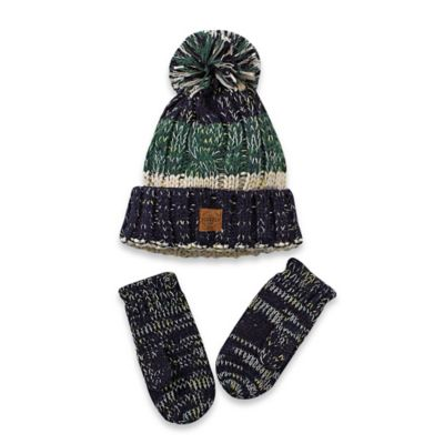 Grey Hat and Mitten Set