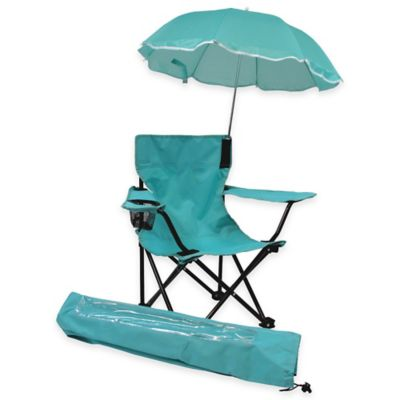 W.C. Redmon Kids' Camp Chair with Umbrella in Aqua