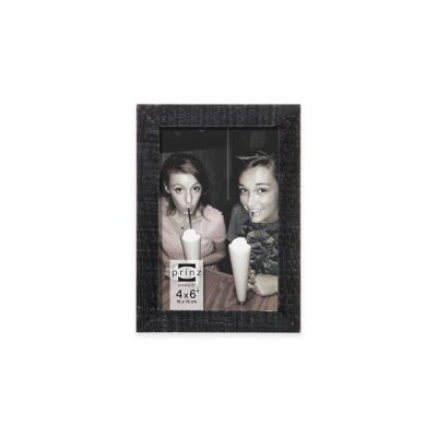Prinz Sweet Water 4-Inch x 6-Inch Wood Frame in Distressed Black