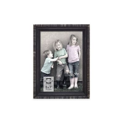 Prinz Sweet Water Groove 5-Inch x 7-Inch Wood Frame in Distressed Black