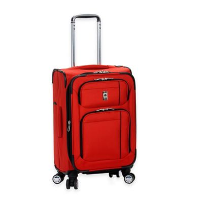 DELSEY Helium Breeze 20-Inch 8-Wheel Carry On Expandable Spinner in Red