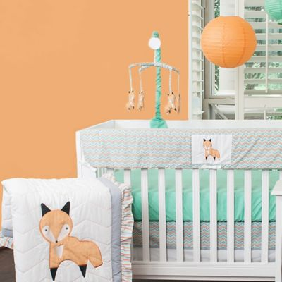 Pam Grace Creations Friendly Fox 10-Piece Crib Bedding Set