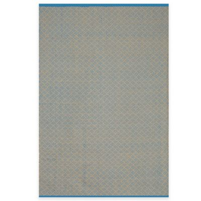 Fab Habitat Karma 2-Foot x 3-Foot Indoor/Outdoor Accent Rug in Blue/Almond