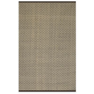 Fab Habitat Karma 4-Foot x 6-Foot Indoor/Outdoor Area Rug in Brown/Almond