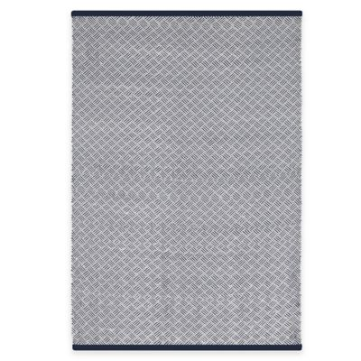 Fab Habitat Karma 2-Foot x 3-Foot Indoor/Outdoor Accent Rug in Indigo/White