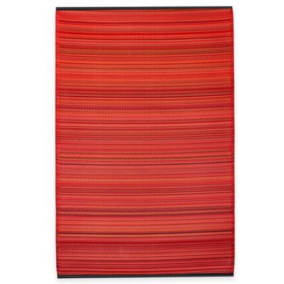 Fab Habitat Cancun 5-Foot x 8-Foot Striped Area Rug in Green