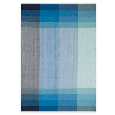 Fab Habitat Bliss 8-Foot x 10-Foot Cotton Area Rug in Blue