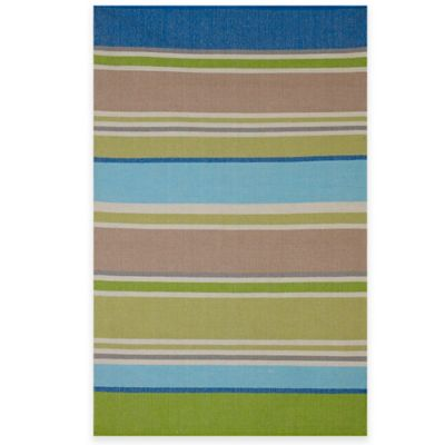 Fab Habitat Hope 5-Foot x 8-Foot Indoor/Outdoor Area Rug in Multicolor