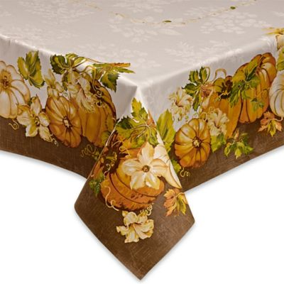 Pumpkin Delight 52-Inch Square Tablecloth