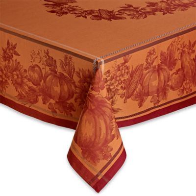 Harvest Royalty 60-Inch x 84-Inch Oblong Tablecloth in Rust