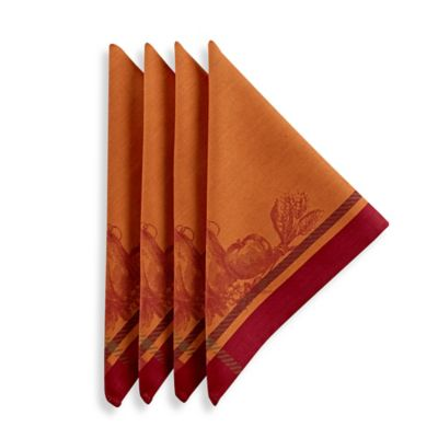 Harvest Royalty Napkins in Rust (Set of 4)