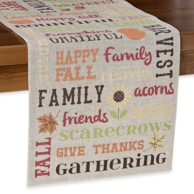 Sam Hedaya 72-Inch Bountiful Words Table Runner