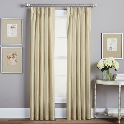 Spellbound Pinch-Pleat 95-Inch Rod Pocket Lined Window Curtain Panel in Champagne
