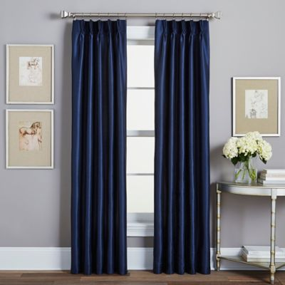 Spellbound Pinch-Pleat 84-Inch Rod Pocket Lined Window Curtain Panel in Gold