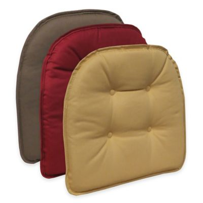 Klear Vu Cotton Twill Tufted Chair Pad in Red Sedona