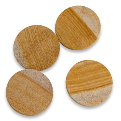 Sandstone Banded Swirl Coasters (Set of 4)