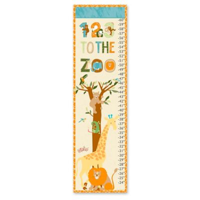 Eric Carle Zoo Growth Chart Canvas Wall Art