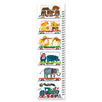 Animals Growth Chart Canvas Wall Art