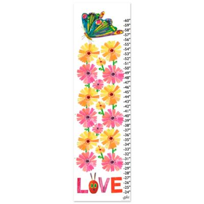Eric Carle Love Growth Chart Canvas Wall Art