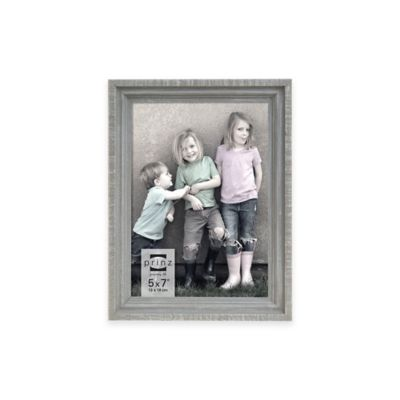 Prinz Sweet Water Groove 5-Inch x 7-Inch Wood Frame in Distressed Grey