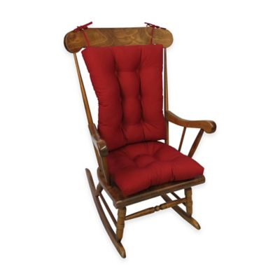 Klear Vu Twill Universal X-Large 2-Piece Rocking Chair Pad Set in Brownstone