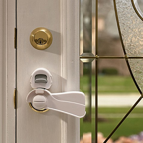 KidCo® Door Lever Lock in White