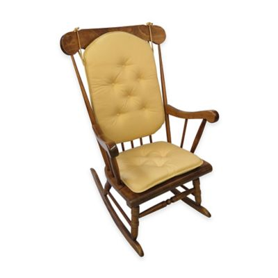 Klear Vu Cotton Twill 2-Piece Rocking Chair Pad Set in Grass