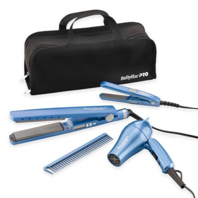 "BaByliss® PRO Nano™ 1"" Titanium Straighteners and Dryer Pack"